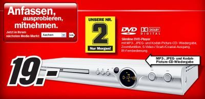media markt verkauft dvd player f r 19 euro. Black Bedroom Furniture Sets. Home Design Ideas